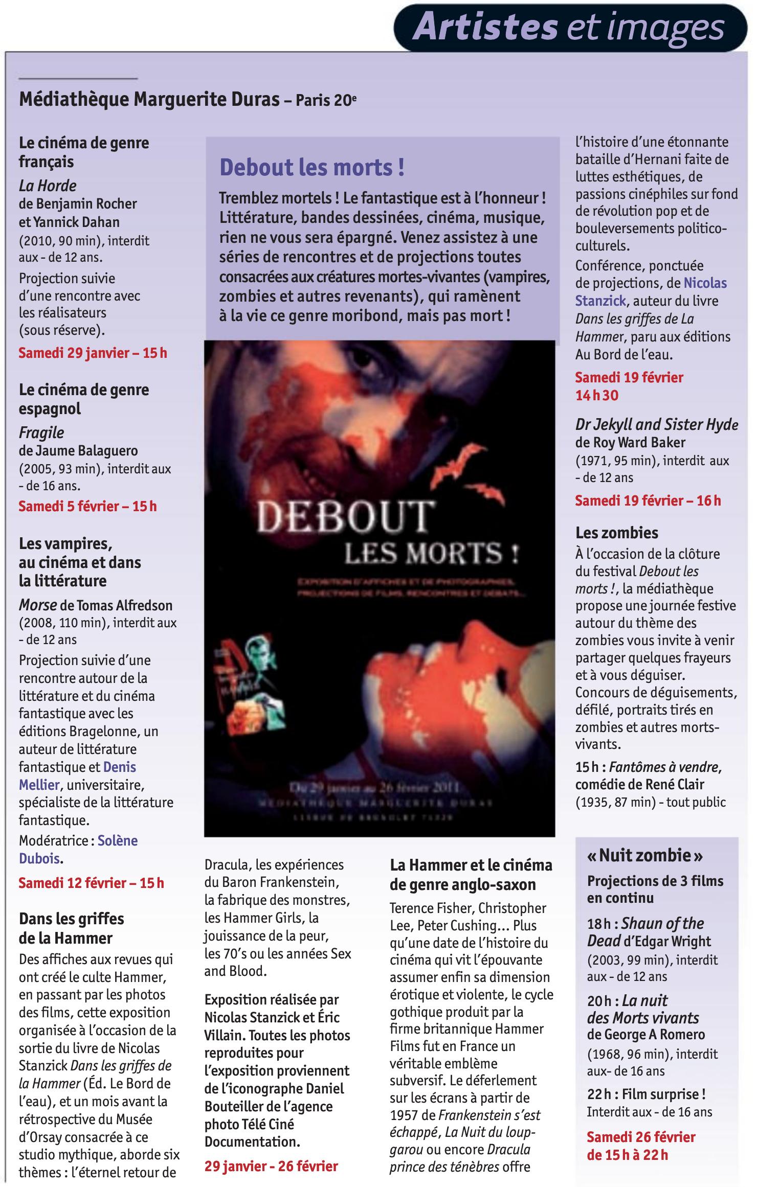 2011 Magazine des bibliothèques